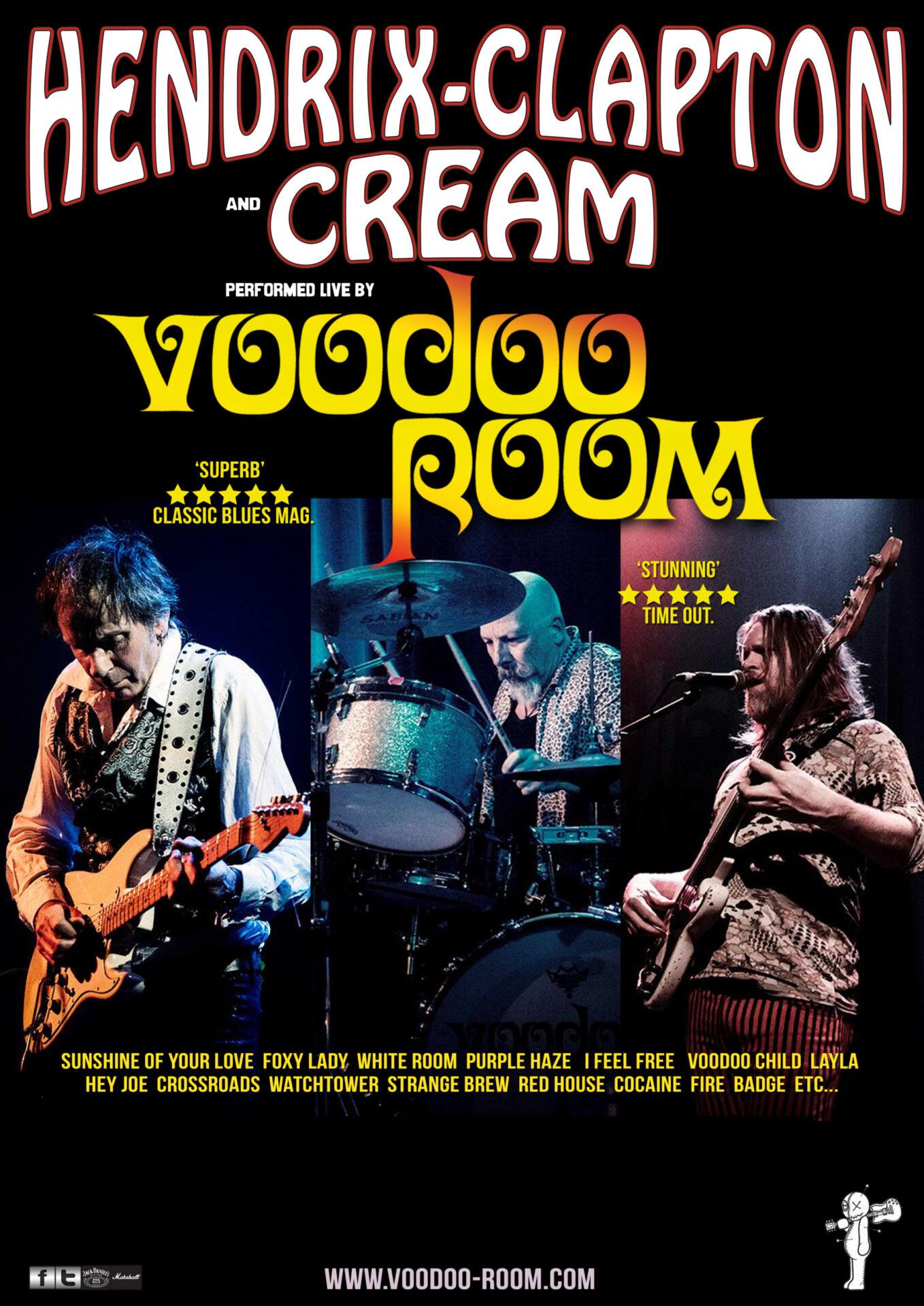 Voodoo Room – A Night of Hendrix, Clapton and Cream