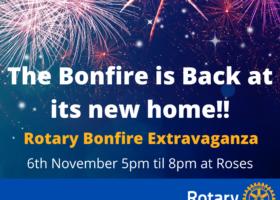 Rotary Club of Gainsborough Bonfire Extravaganza poster